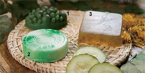 Sabonete: 1. Anticelulite, 2. Clareador de manchas 3. Antiacne