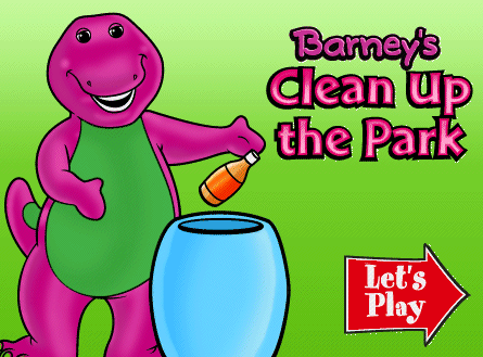 Free Online Kid Games Barney Clean Up The Park Game