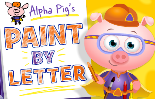 PBS Kids Game Super Why! Alpha Pig's Paint by Letter