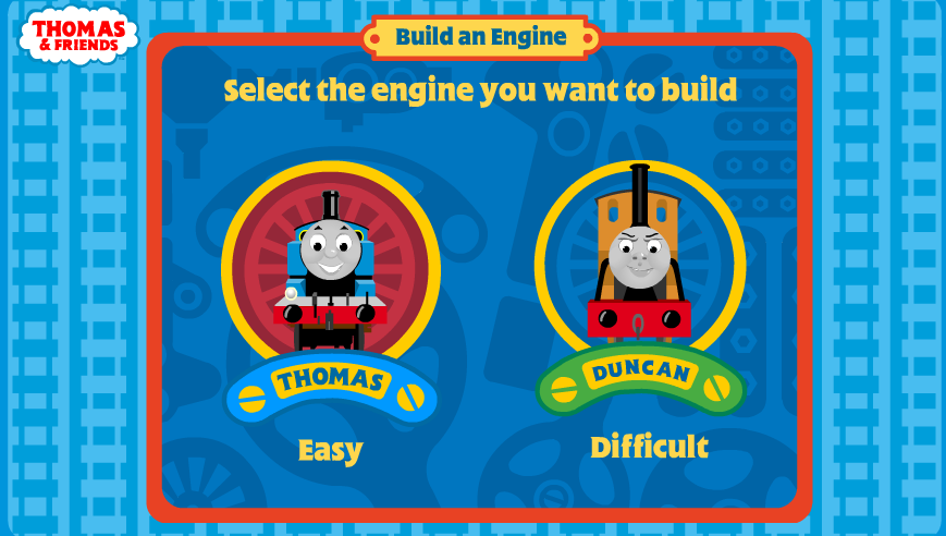 Free Online Kid Games Thomas Build And Engine Game