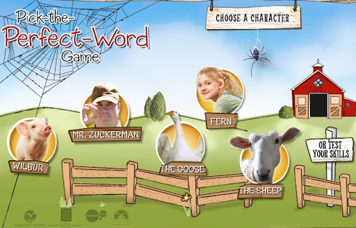Scholastic Charlotte's Web Pick the Perfect Word Game