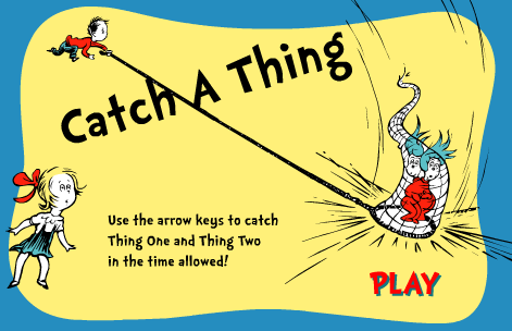 Seussville Dr. Seuss Catch A Thing Game