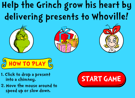 Seussville The Grinch Grow Your Heart Game