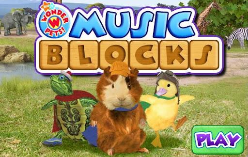 Nick Jr. Wonder Pets Music Blocks Game