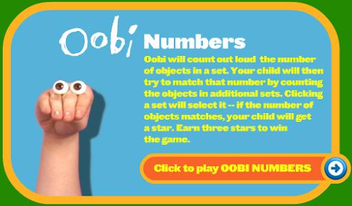 Oobi Numbers Game