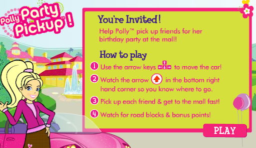 Polly Pocket Party Pickup Game