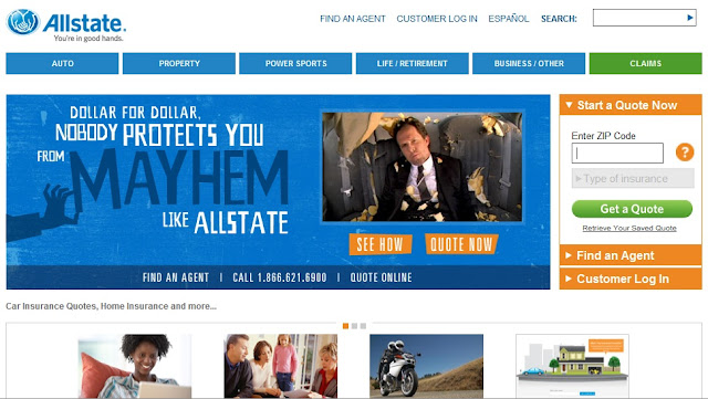 "Allstate Quote Online Cool Homadge  The Copysumo Blog Allstate  ""meet Mayhem"" And More Mayhem"