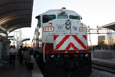 Dallas airport train, the Trinity Railway Express