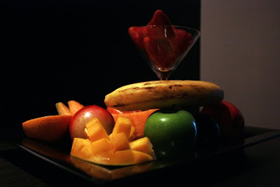 Fruit plate at the W Hotel in Santiago Chile