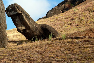 Easter Island Moai at the Rano Raraku quarry
