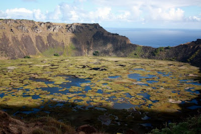 Easter Island crater from above