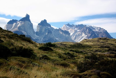 Los Cuernos in Torres del Paine National Park in Patagonia Chile