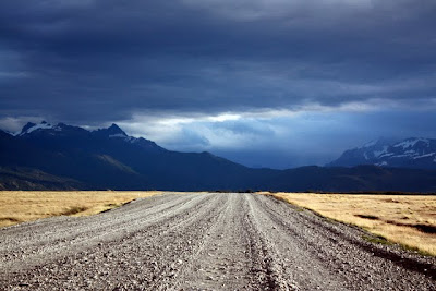 Road in Torres del Paine in Patagonia Chile