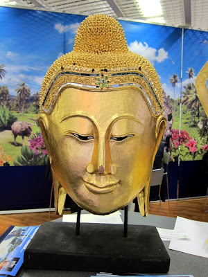 Buddha head at the ITB Berlin Asia Pavilion