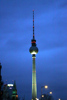 Alexanderplatz in Berlin at night