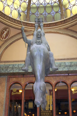 Prague sculpture by David Cerny in the Lucerna
