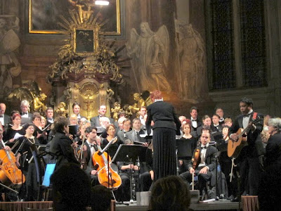 Prague concert in a church