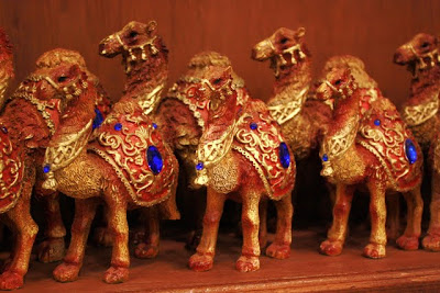 Camel toys in a souvenir shop in Jordan
