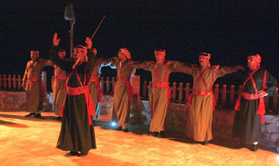 Dancers performing on the Petra by Night tour in Jordan