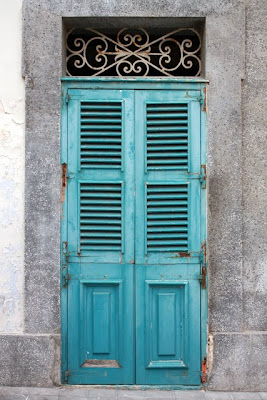 Blue door in Mdina Malta