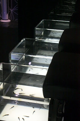 Tanks for a fish pedicure in London