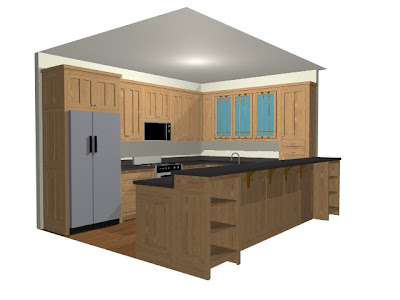 When is island needed for 10x13 kitchen layout