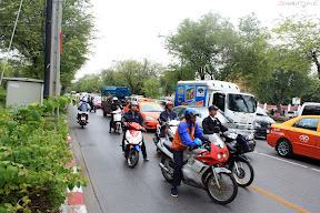 Bangkok traffic jam on festival day