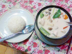 tom ka kai, very delicious