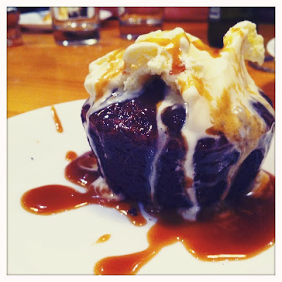 Sticky Date Pudding vanilla ice cream dessert