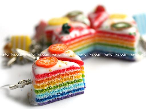 Изделия радужные сладости