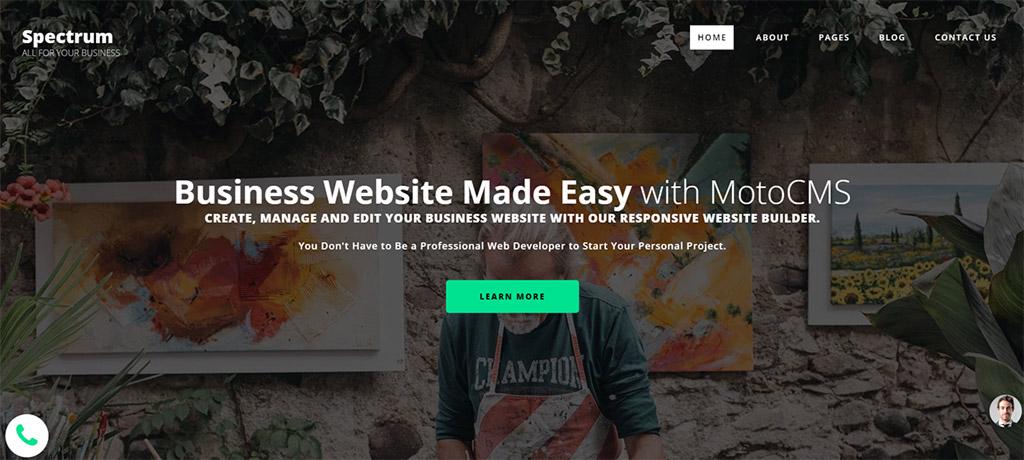 design para criador de sites spectrum