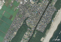 Arahama - Sendai, before and after tsunami