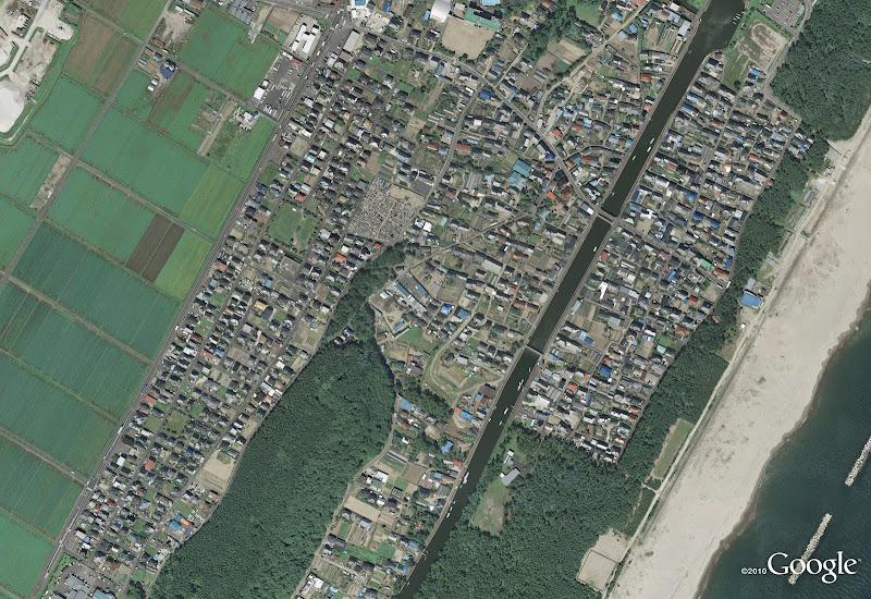 Arahama in Sendai (antes del tsunami de Japón)