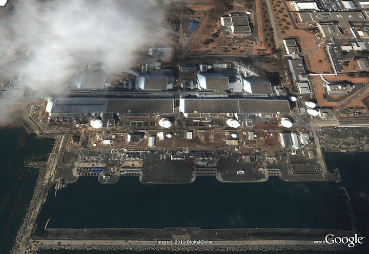 Fukushima nuclear plant before and after tsunami