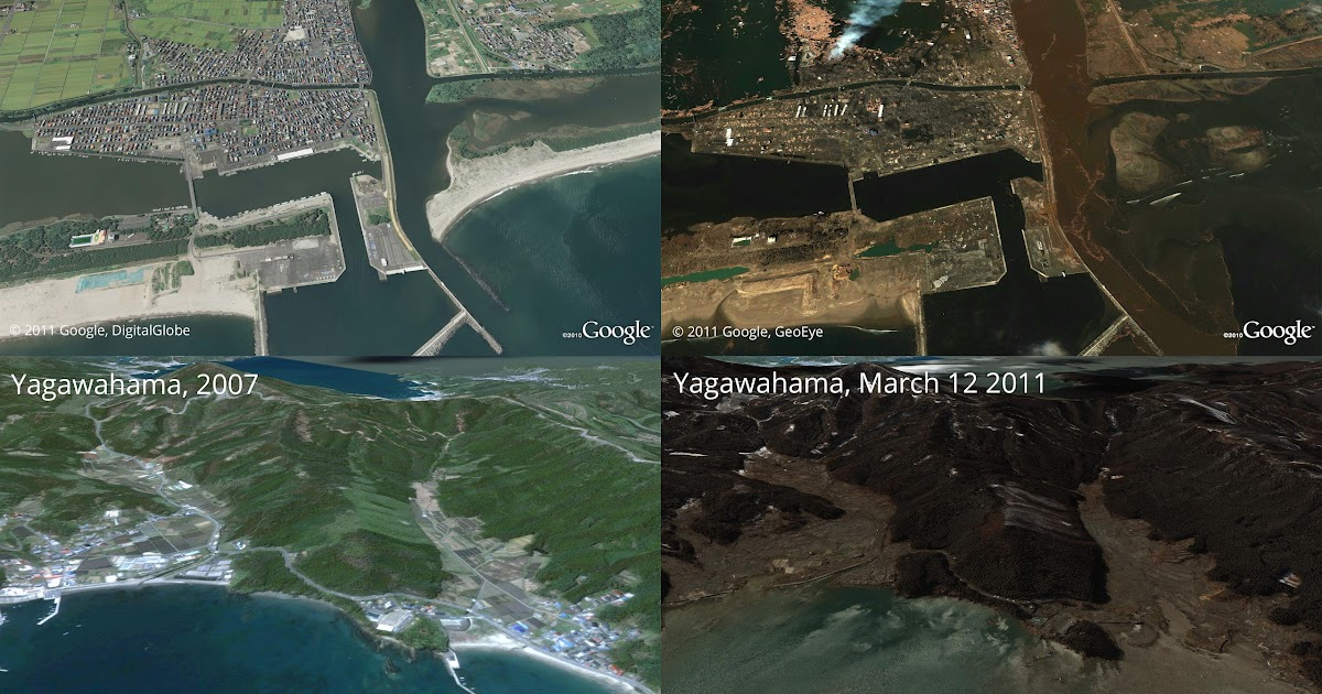 Official google.org Blog: Post-earthquake imagery of Japan