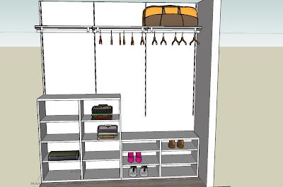 La nostra casetta cabina armadio prime ipotesi for Ikea progetto camera