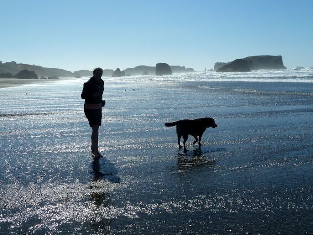 Amy and Kona - Oregon Coast