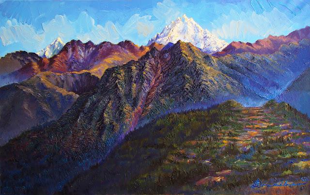 Paisajes Andinos del Cusco Pinturas al Oleo Efrain Aranibar
