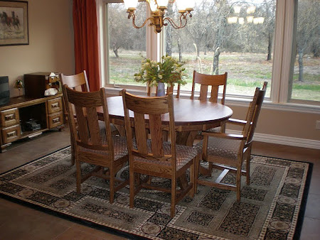 "50"" x 42"" Inch Montrose Dining Table and Montrose Chairs in Pecan Oak"