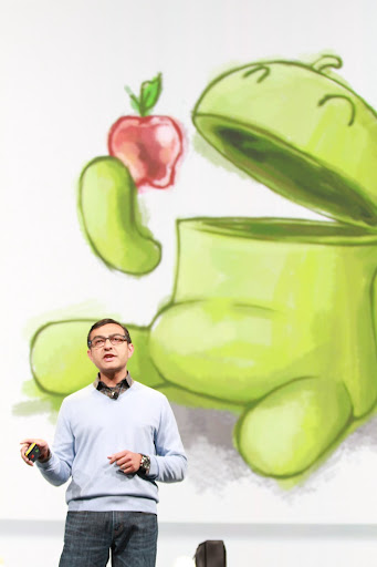 from Google IO 2011 Keynote - Image shows Android eating apple