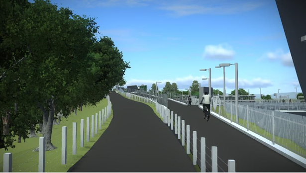 Artist impression of the new Marsh Barton railway station