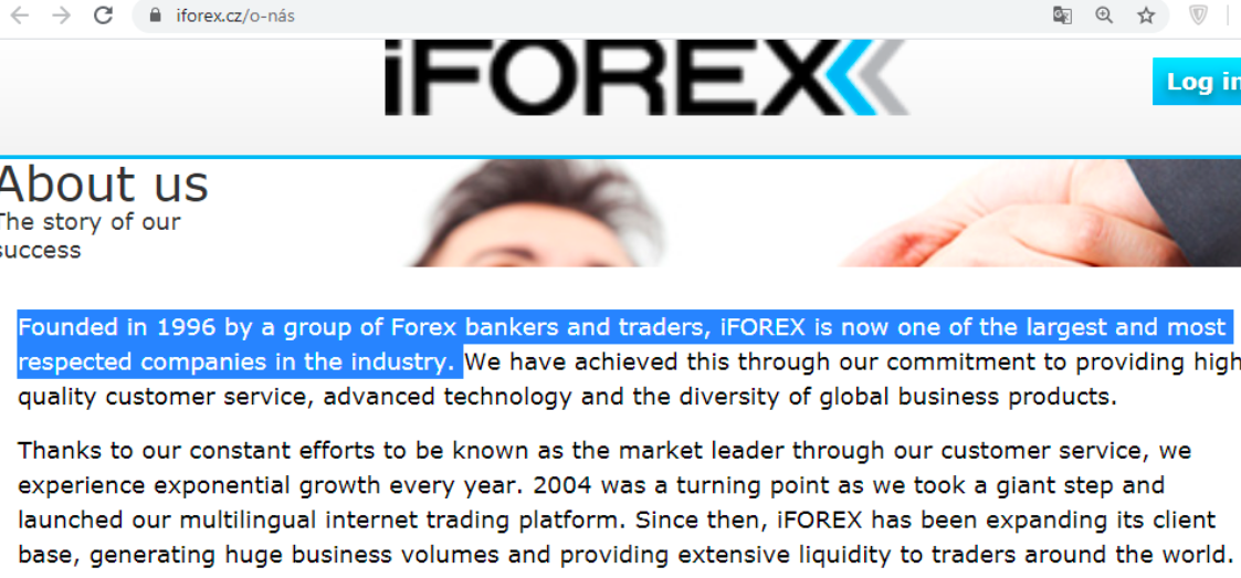 iFOREX's first website