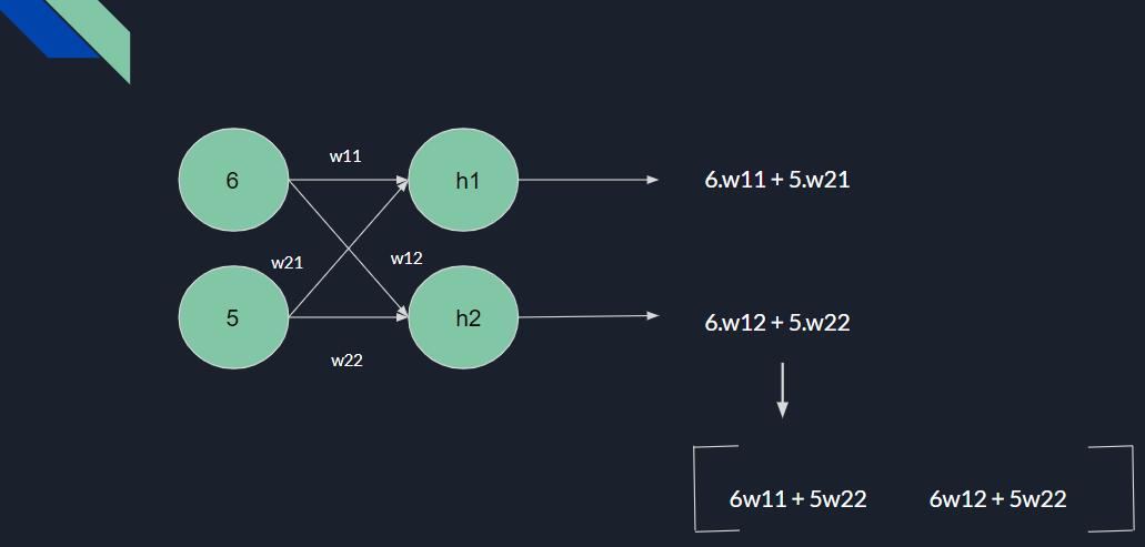 Matirx Representation of Wieights in Neural Networks