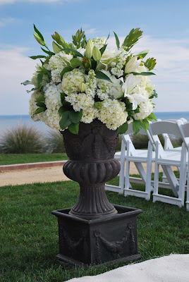 This is a photo of a wedding arrangement at Terranea Resort, Palos Verde, CA.