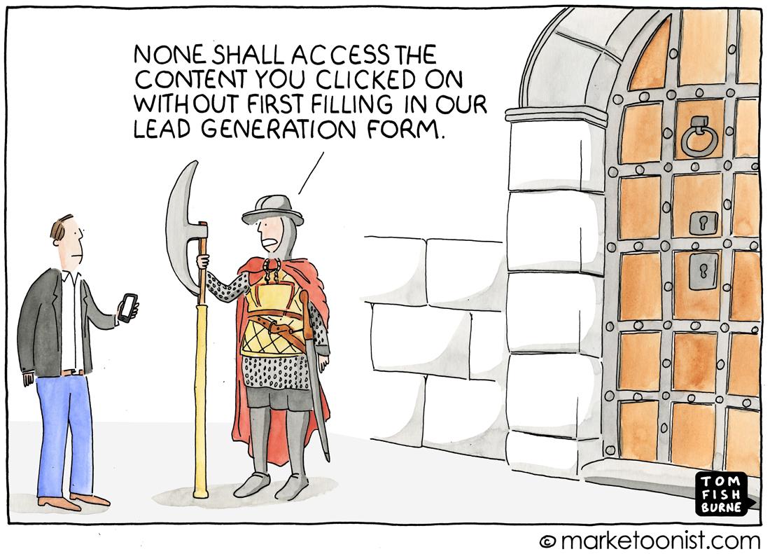 Marketoonist Cartoon on Lead Generation