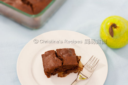 Chocolate Pear Pudding02