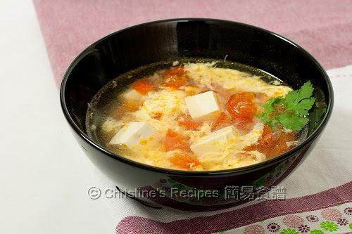 Tomato Tofu Egg Drop Soup (番茄豆腐蛋花湯)   Christine's ...