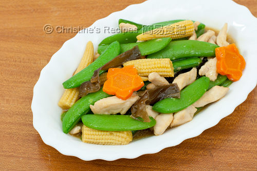 蜜糖豆炒雞絲 Stir Fried Sugar Snap Peas with chicken02