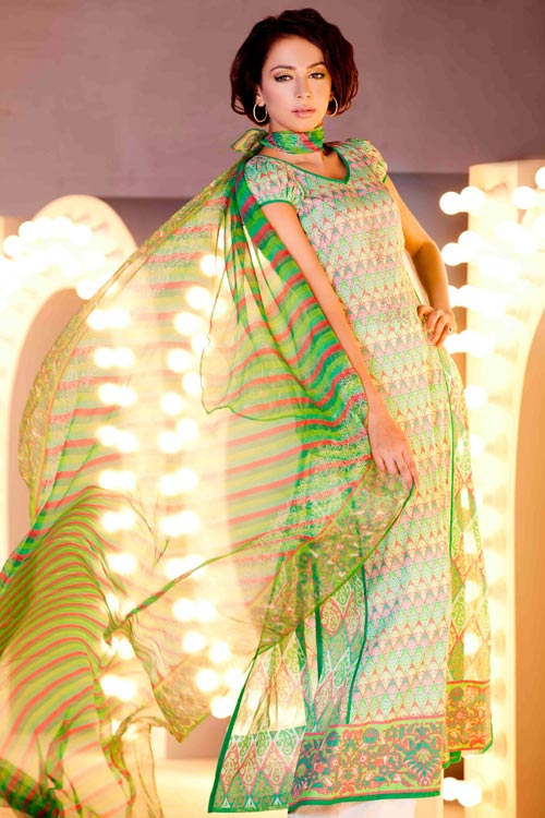 Nomi Ansari Summer Collection 2011 Lawn Prints Fashion Showcase 14 - Lawn Dresses June CoLLection