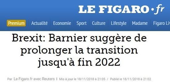 Brexit - Michel Barnier - Le Figaro